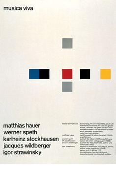 Josef Müller-Brockmann MUSICA VIVA KLEINER TONHALLESAAL 1959 [ 127CM X 90CM ] via www.blanka.co.uk