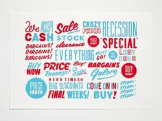 Crispin Finn #buy #bargain #cash #clearance #illustration #price #typography