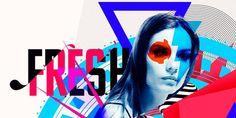 Fresh. #woman #fresh #digital #colors #art #typography