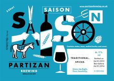 Partizan Brewing Labels #beer #bottle #label #packaging