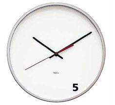 Reloj que marca las cinco en punto #clock #five