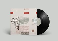 Off Record on Behance #album #plants #montage #noa #record #vinyl #illustration #stain #music #joy #collage #mountains #emberson