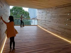 The Smile – The Spectacular, Curved, Tubular Timber Structure in London