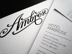 HotelAmbrose identity / 2011 on the Behance Network #stationary #identity #branding