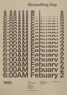 Groundhog Day Film Poster by A.N.D Studio