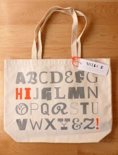totebags #bag #tote #letters #typography
