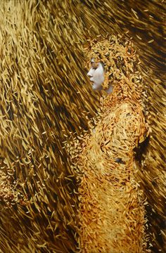 Artist painter Brad Kunkle #flow #brad #illustration #kunkle #gold #painting #beauty