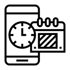 See more icon inspiration related to calendar, date, smart, time, time and date, Deadlines, deadline, electronics, communications, smartphone and business on Flaticon.