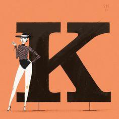 Chicks & Types Calendar by Simone Massoni #illustration #typography #calendar #italy