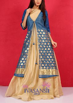 Vasansi Blue Handloom Fusion Wear