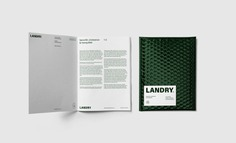 Landry Branding - Mindsparkle Mag Monolith Agency designed Landry Branding. The visual identity carried out had to correspond exactly to the image of the owner and his company: modern, daring and inspiring confidence. #logo #packaging #identity #branding #design #color #photography #graphic #design #gallery #blog #project #mindsparkle #mag #beautiful #portfolio #designer