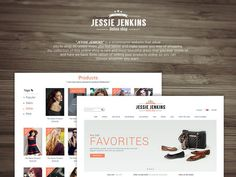 Jessie Jenkins : Free Fashion Ecommerce PSD Template