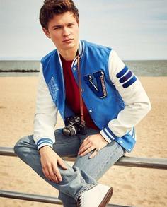 Ansel Elgort Baby Driver Varsity Jacket (2)