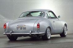 #vehicle #vw #ghia #karmanghia #custom #silver