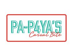 PAPAYA\\\'S Casual Bite on Behance