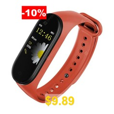M4s #Sports #Color #Screen #Heart #Rate #Sleep #Monitor #Message #Reminder #Smart #Bracelet