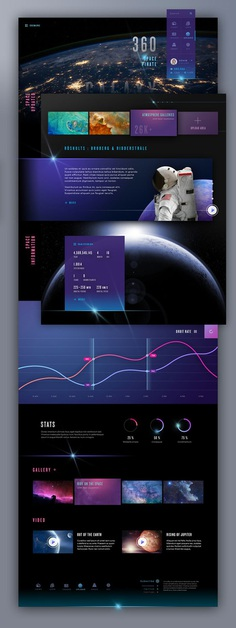Neon space on Behance