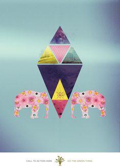 Creativity Vs Climate change on Behance #climate #print #colours #art #change #pentagram #fine
