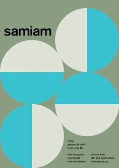 samiam at black hole, 1992 - swissted #geometry #design #swiss #poster