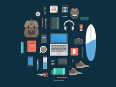 My Freelance Essentials #flat #icon #essentials #picto #illustration