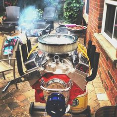 V8 Engine Bbq Grill by Hot Rod Grills #tech #flow #gadget #gift #ideas #cool