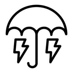 See more icon inspiration related to umbrella, save, save energy, insurance, bolts, electronics, protection, rain, rainy, electricity, energy, security and weather on Flaticon.