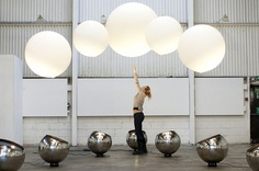 Interactive installation that lets you play with giant colourful orbs that levitate in mid-air   Creative Boom