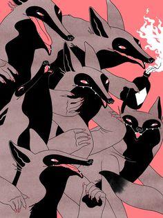 eerolampinen.com #wolves #illustration #wolf
