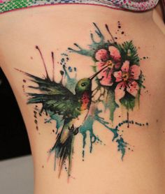 55 Amazing Hummingbird Tattoo Designs #tattoo #designs #hummingbird