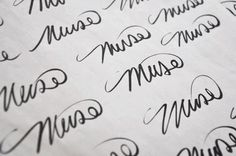 Underwater Muse on Behance #calligraphy #logo #muse #handmade