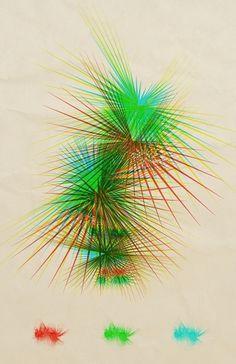 random doings on the Behance Network #spikes #vector #distortion #poster
