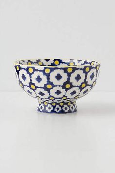 Tiled and Dotted Bowl, Anthropologie