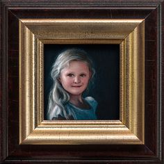Rens & Iselle made by Robbin Veldman http://www.robbinveldman.nl #tiny #small #framing #wood #rembrandt #detail #acrylic #frame #childr #holland #girl #robbin #iselle #paint #vermeer #gold #realistic #miniature #nijverdal #netherlands #classic #kid #child #painting #lighting #dutch #rens #drama #portrait #art #dramatic #veldman #masters