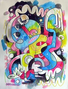 .. Wired - F C H i C H K 'L #illustration #painting #spray #jon burgerman