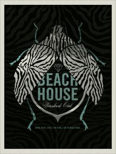 GigPosters.com - Beach House #gigposter #screenprint