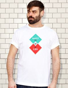 NATRI - KONTRASTLOS - contrastless - white t-shirt - men