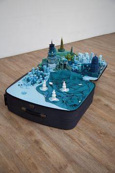 Portable Cities by Yin Xiuz #yin #sculpture #portable #installation #cities #art #xiuz