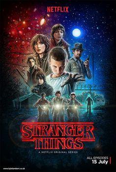 Stranger Things - Illustrated Poster Art by Kyle Lambert