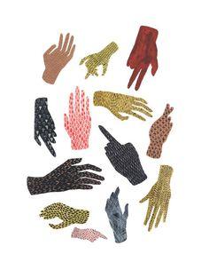 varia spell. print // Hand Pattern Illustration #illustration #pattern #hands #easy