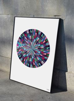 Colour Rain - Poster Art — Home #pattern #poster