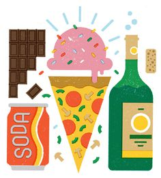 I drew some treats for the newspaper. #illustration #food