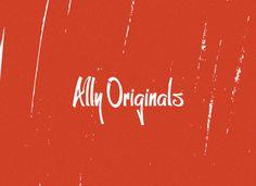 Ally Originals You With Rhinestones #logo #wordmark #identity #branding