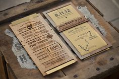 Wedding Invitation on the Behance Network #wood #print #invitation