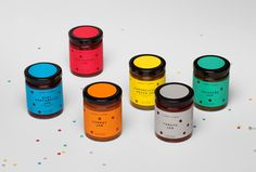 Packaging, Holes, Color, Bold, Die cut, Spain, Jar, Fruit, Preserves