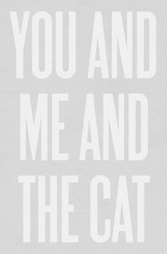 Sara Lindholm #poster #you #me #and #the #cat