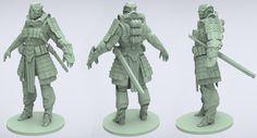 Deathstroke Sculpt W.I.P #samurai #deathstroke