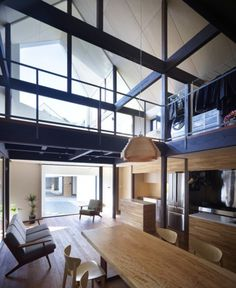 Tumblr #house #interiors #glass #wood #furniture #architecture