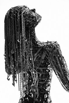Ecstasy by Dan Das Mann   Colossal #steel #metal #chains #sculpture