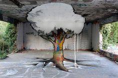 Anamorphic Graffiti by TSF Crew | 123 Inspiration #graffiti #tsf #art #street #anamorphic #crew
