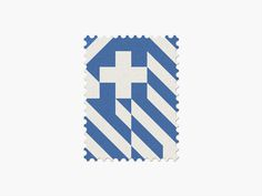 Greece #stamp #graphic #maan #geometric #illustration #minimal #2014 #worldcup #brazil